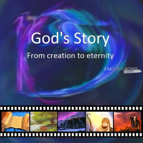 Albanese Evangelisatiefilm (Video CD) - GOD'S STORY: Van Schepping tot Eeuwigheid