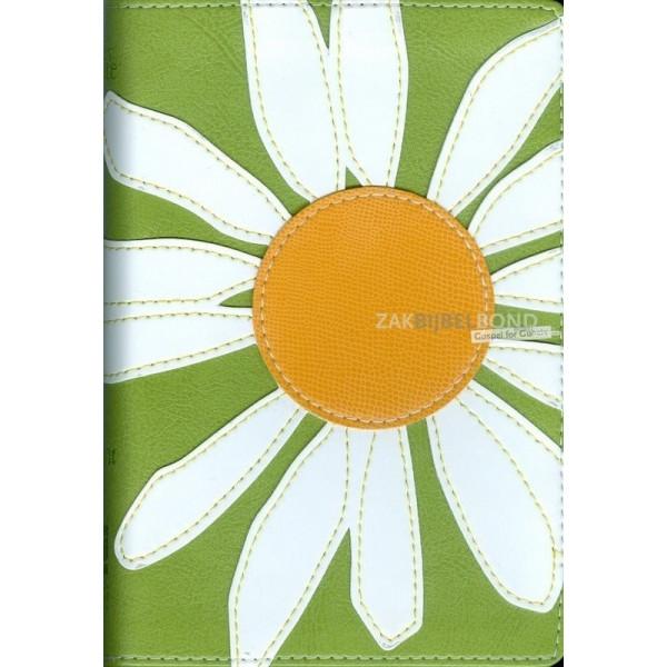 Engelse Bijbel in de New International Version (NIV). The Bloom Bible - Daisy edition. Luxe uitgave met zilversnede en Italian D
