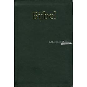 Nederlandse Bijbel in de NBG '51-vertaling. Uitgevoerd in medium formaat (schoolbijbel) met flexibele zwarte kaft.