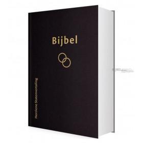 Nederlandse Bijbel in de Herziene Statenvertaling - TROUWBIJBEL - Uitgevoerd in groot formaat met goudsnede en zwarte kaft