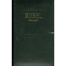 Nederlandse Bijbel in de Statenvertaling + Psalmen. Uitgevoerd in medium formaat met leren kaft &  goudsnede + duimgrepen + rits