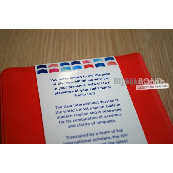 Engelse Bijbel in de New International Version (NIV) - POCKET RED SOFT-TONE BIBLE - Met imitatieleer en rits