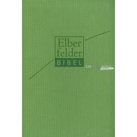 Duitse Bijbel in de Herziene Elberfelder-vertaling. Uitgevoerd in compact formaat met Italiaans kunstleren kaft in groene kleur.
