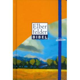 Duitse Bijbel in de Herziene Elberfelder-vertaling (Revidiert). Uitgevoerd in zakformaat, blauw sluitbandje, harde kaft met afge