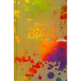 Duitse Bijbel in de Schlachter 2000-vertaling. Uitgevoerd in groot formaat met harde kaft, afgeronde hoeken en kleurrijk design.