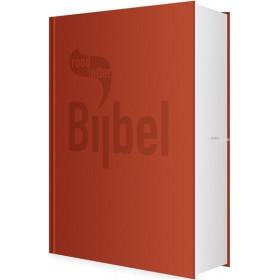 Nederlandse Bijbel in de Het Boek-vertaling. ROOD LETTER BIJBEL. Uitgevoerd in medium formaat met harde kaft.