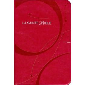 Franse Bijbel in Louis Segond 1910-vertaling. Medium formaat met imitatieleer en zilversnede.