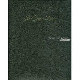 Franse Bijbel in de Louis Segond 1910-vertaling. LUXE EDITIE. Groot formaat met rits, imitatieleer, goudsnede en duimgrepen.