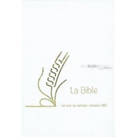 Franse HuwelijksBijbel in de Semeur 2015-vertaling. Medium formaat met witte harde kaft (linnen) en goudsnede.