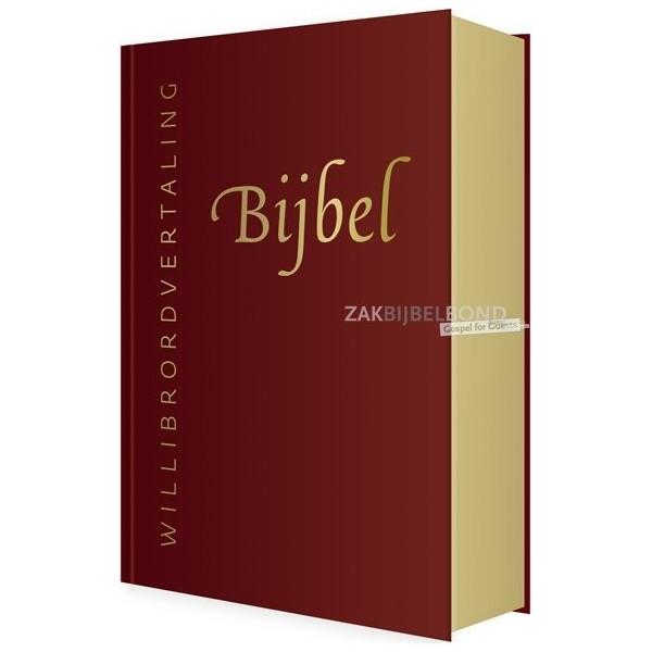 Willibrord Bijbel in leer met goudsnede - Rood