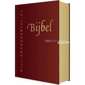Willibrord Bijbel met rits - Rood