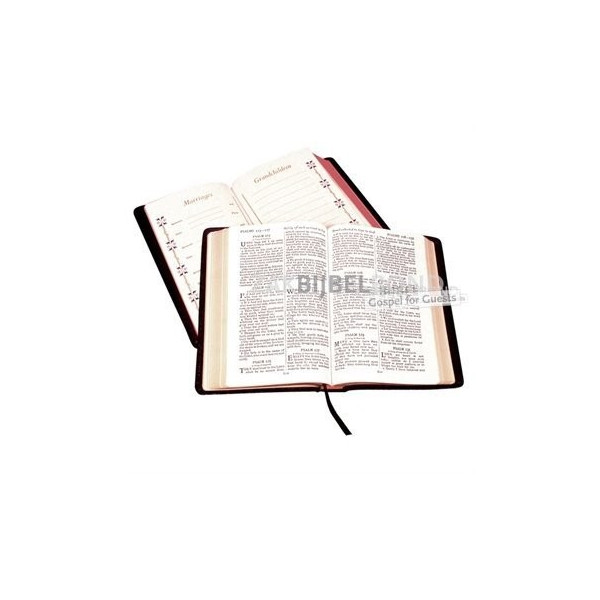 English Bible KJV - Family Presentation Bible (calfskin) - Black