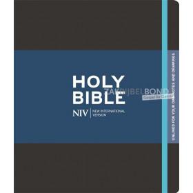 Engelse Bijbel NIV - Journaling Bible zwart zonder belijning