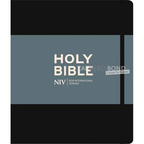 Engelse Bijbel NIV - Journaling Bible zwart mét belijning