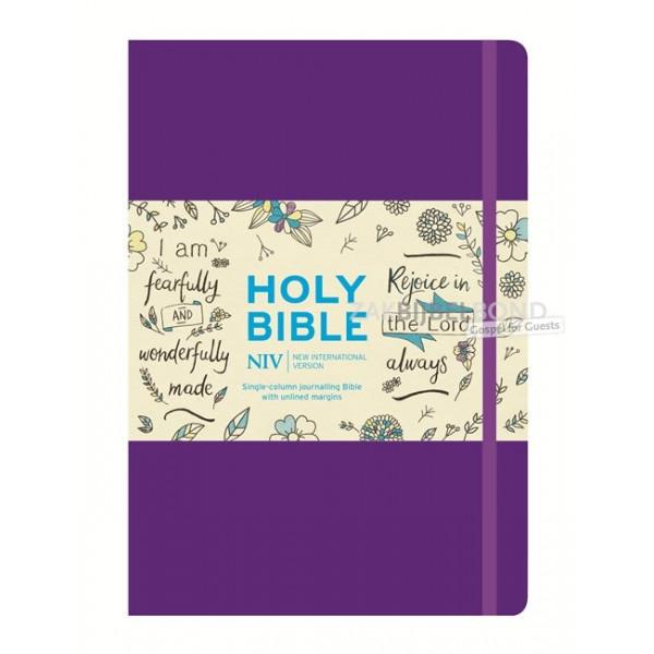 Engelse Bijbel NIV - Journaling Bijbel 1 kolom paars