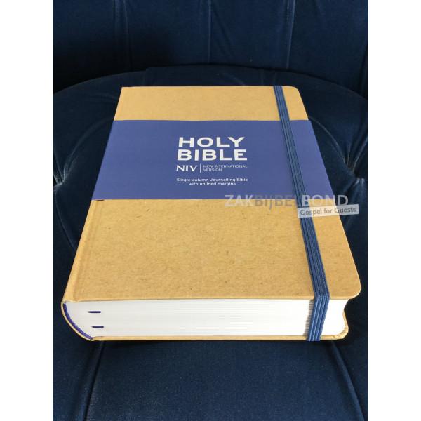 Engelse Bijbel NIV - Journaling Bijbel groot beige