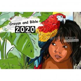 English colouring calendar 2019 for children