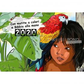 Italian colouring calendar 2019 for children