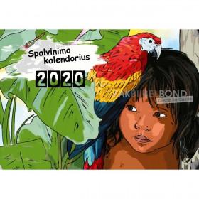 Litouwse kleurkalender 2020 voor kinderen