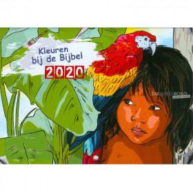 Nederlandse kleurkalender 2020 voor kinderen