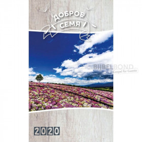 Russian GIANT LETTER book calendar 2020 - The Good Seed
