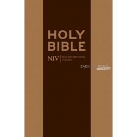 Engelse Bijbel NIV - Medium bruin leer rits