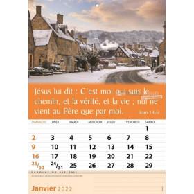 French wall calendar 2022